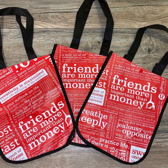 lululemon athletica Handbags - Lululemon Lot of 3 New Reusable Totes